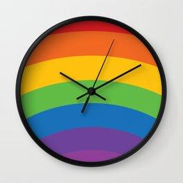 Old School Rainbow Wall Clock