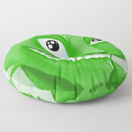 Kyrai - the green cat Floor Pillow