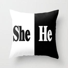 She vs He Throw Pillow