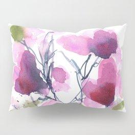 Pink Heart Petals Pillow Sham