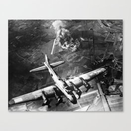 B-17 Bomber Over Germany - 1943 Canvas Print