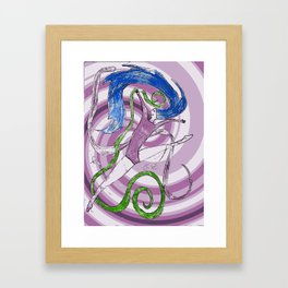 Ballet love Framed Art Print