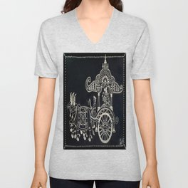 'The Chariot' Wood Work Unisex V-Neck