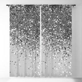 Soft Silver Gray Glitter #1 (Faux Glitter - Photography) #shiny #decor #art #society6 Blackout Curtain