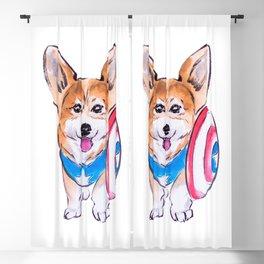 Captain Americorgi Blackout Curtain