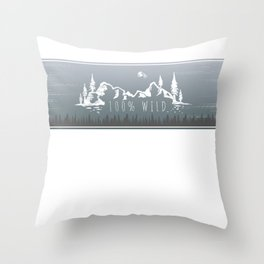 100% Wild Line Throw Pillow