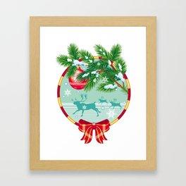 New Year ornament Framed Art Print