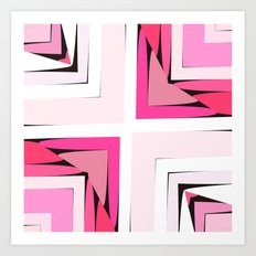 Pink Corners Art Print