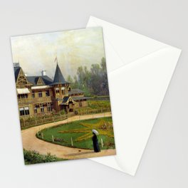 Country House 1892 By Lev Lagorio | Reproduction | Russian Romanticism Painter Stationery Cards