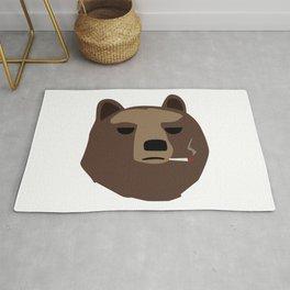 Smoking gopnik Kamchatka brown bear Камчатский бурый медведь (Far Eastern brown bear) Rug