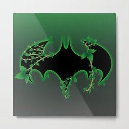 Bat Logo Poison Ivy Metal Print