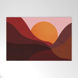 Abstraction_Mountains_SUNSET_Minimalism Welcome Mat