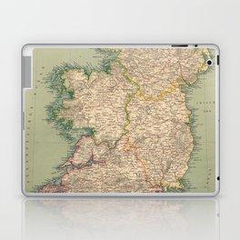 Vintage Map of Ireland (1888) Laptop & iPad Skin