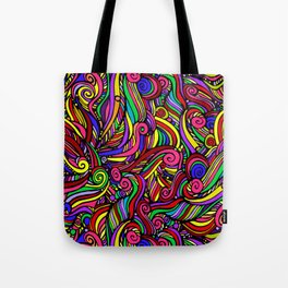 seamless pattern of colored curls Tote Bag