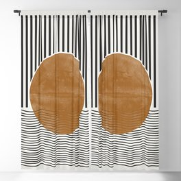 Abstract Modern Poster Blackout Curtain