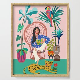 Plant lady III Serving Tray
