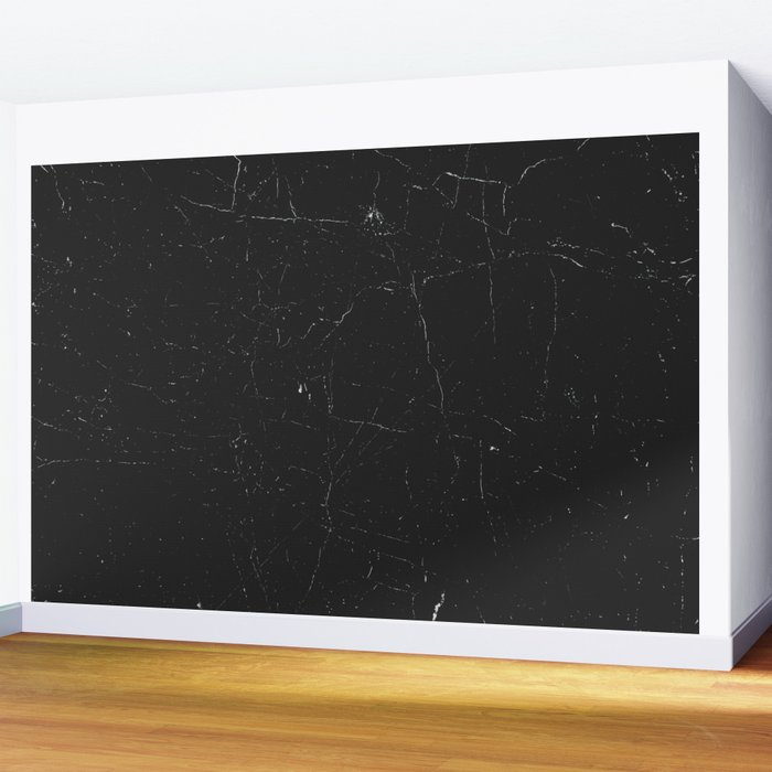 Black distressed marble texture Wall Mural