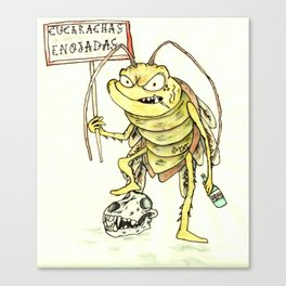 Angry Roach Canvas Print