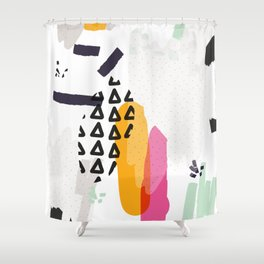 Heading towards confusion Shower Curtain