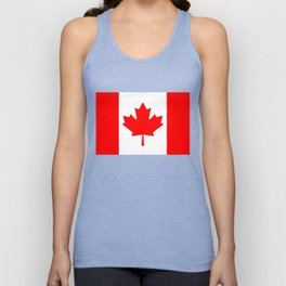 Canadian National flag, Authentic color and 3:5 scale version Unisex Tank Top