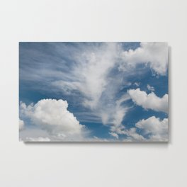 White various clouds formation Metal Print