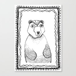 Boris the Bear  Canvas Print