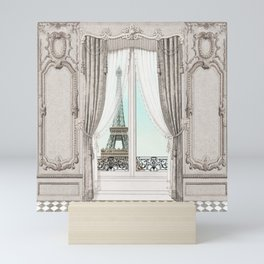 Eiffel Tower room with a view Mini Art Print