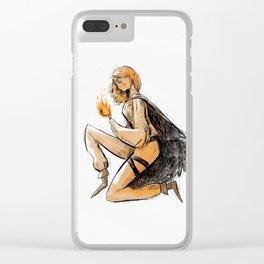 Aelin Fireheart Clear iPhone Case