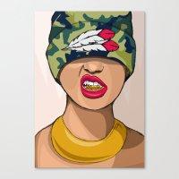 mcfreshcreates Canvas Prints featuring Goldie the Brave by McfreshCreates