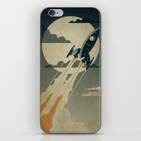 retro iPhone & iPod Skins featuring Night Launch by Danny Haas