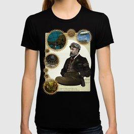 Jules Verne, a Steampunk vision T-shirt