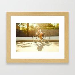 Velo girl Framed Art Print