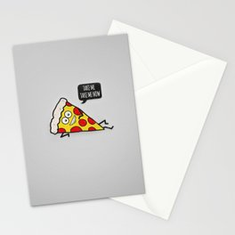 Funny & Cute Delicious Pizza Slice wants only you! Stationery Cards