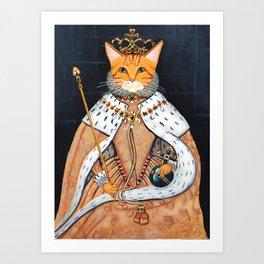 The Ginger Queen's Coronation Art Print