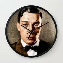 Buster Keaton, Comedy Legend Wall Clock