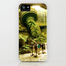 Journey to Lady Liberty iPhone Case