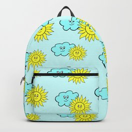 Cute baby design in blue Backpack