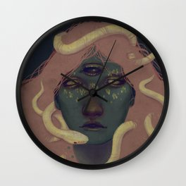of witches and pets Wall Clock