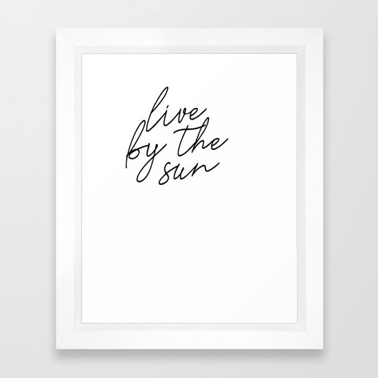 live by the sun love by the moon (1 of 2) by blackandwhitetype