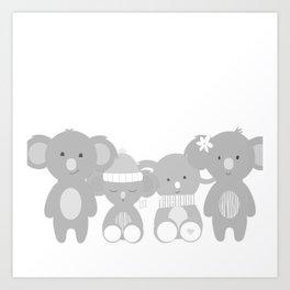 Koala bears Art Print