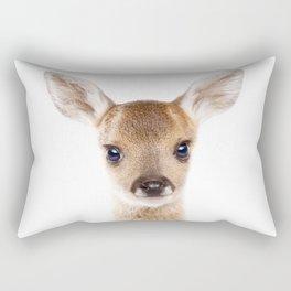 Baby Deer, Baby Animals Art Print By Synplus Rectangular Pillow