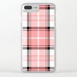 Pink Tartan Clear iPhone Case