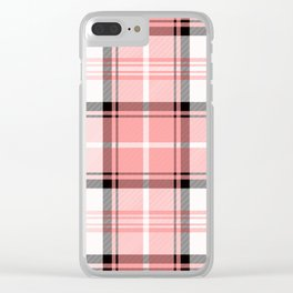Pink Tartan Clear iPhone Case