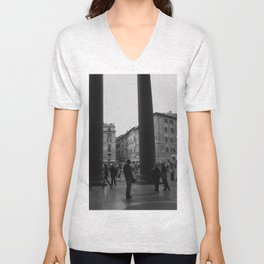 view from the pantheon Unisex V-Neck