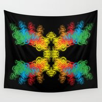 mask Wall Tapestries featuring Mask by kartalpaf