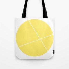 geometric yellow Tote Bag
