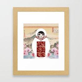 Geisha Matryoshka Framed Art Print