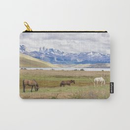 Torres del Paine - Wild Horses Carry-All Pouch