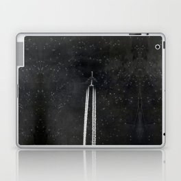 Star Flight - Airplane crossing a starry sky Laptop & iPad Skin
