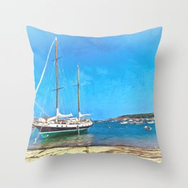 Anchored at the Scillies Throw Pillow